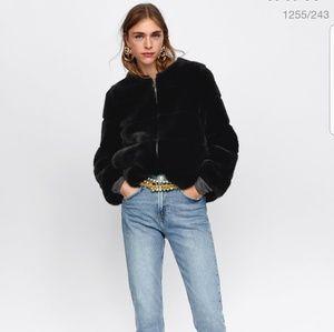 Zara Short Faux Fur Jacket